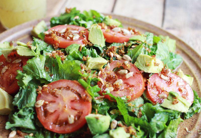 Fried citrus salad