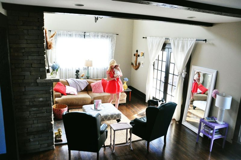 At Home With Coury Combs via A Beautiful Mess