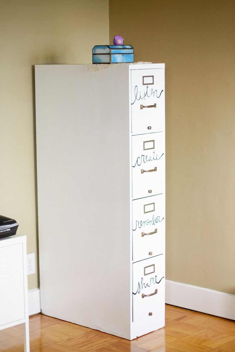 File Cabinet Restyle A Beautiful Mess