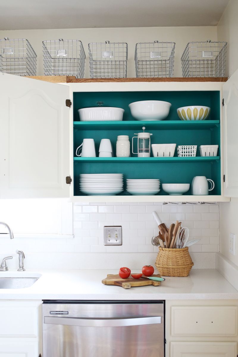 Nesting: Colored Kitchen Cabinets - A Beautiful Mess