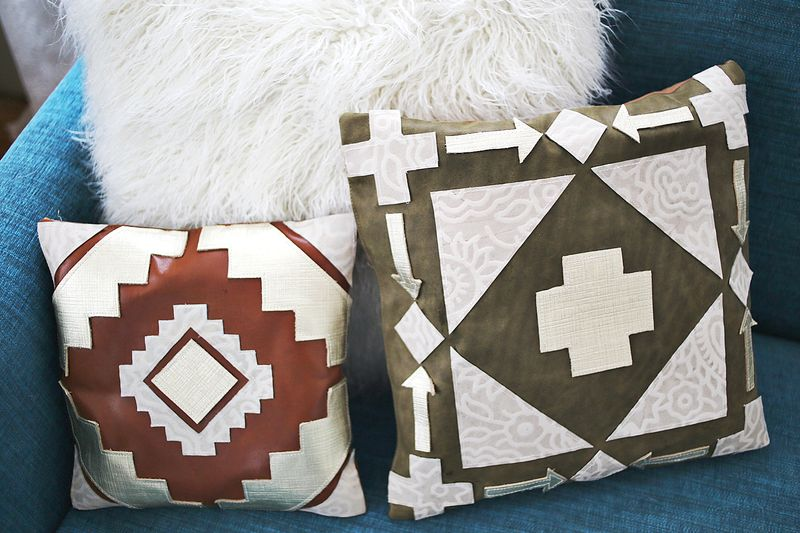 Homemade Leather Pillows