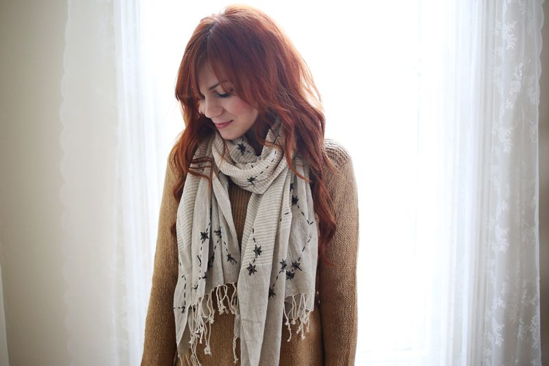 Love this DIY Constellations Scarf
