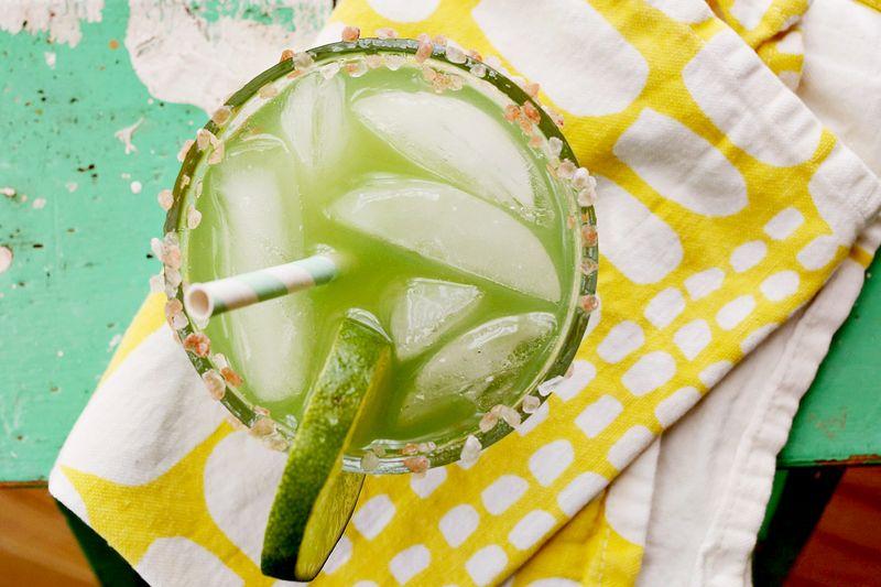 Cucumber margarita… yummmm!
