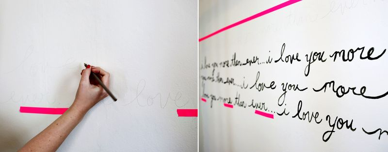 Handwriting wall process