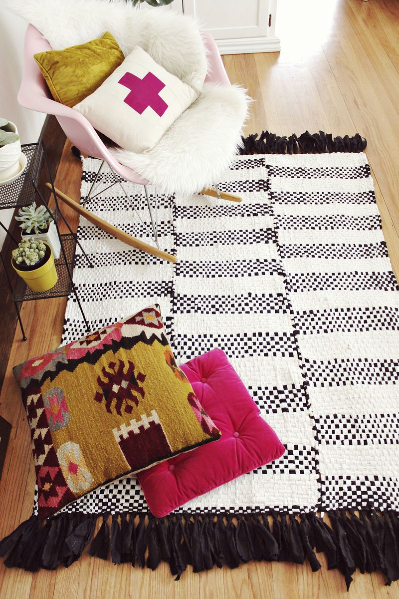 Learn to make this hand woven rug