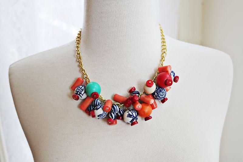 DIY Simple Statement Necklace- super simple!