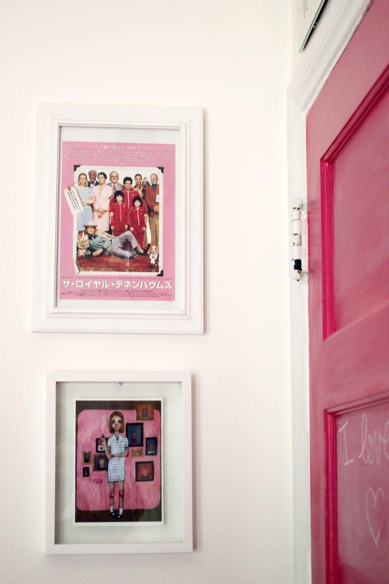 Lovely pink chalkboard door