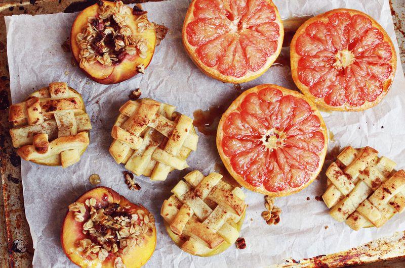 Baked fruit 3 ways