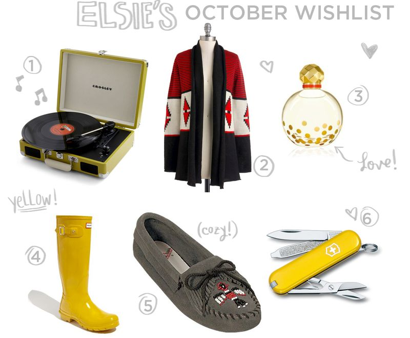 Elsie's October Wishlist