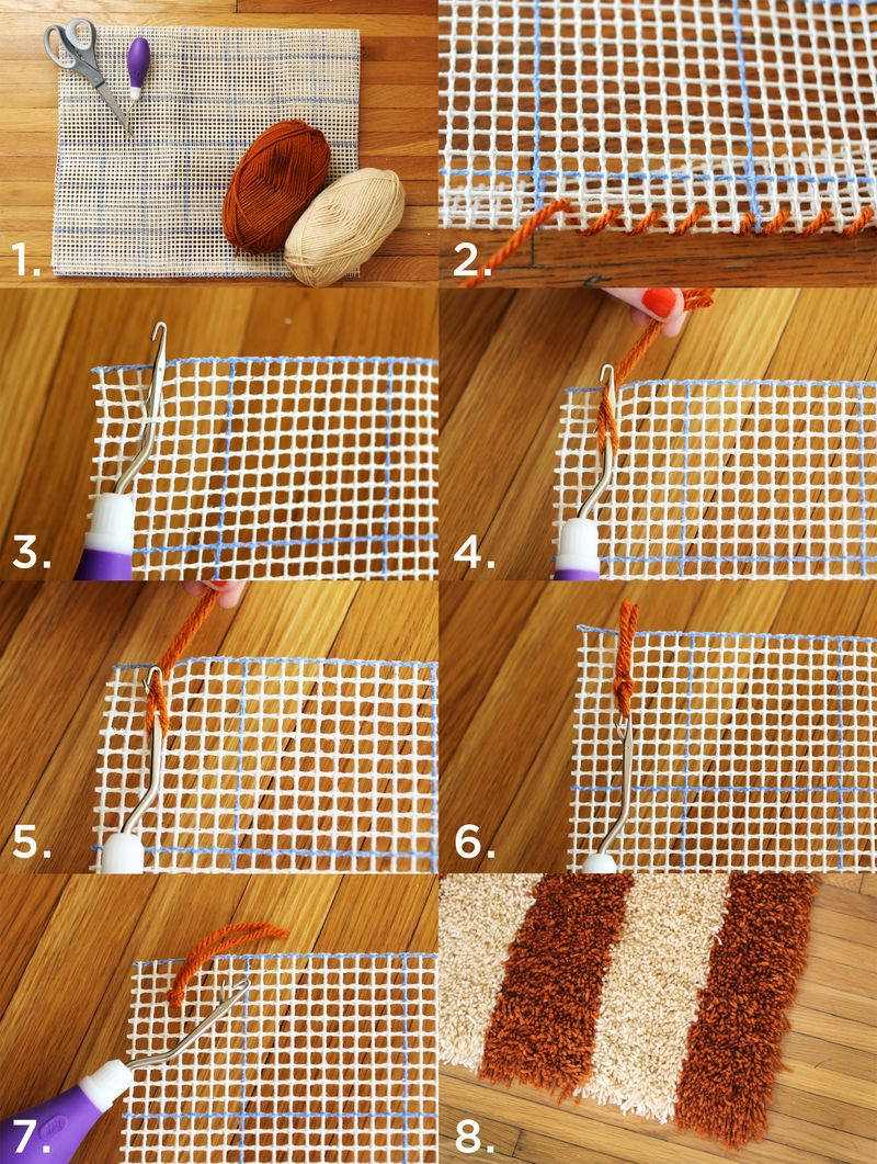 Latch Hook Rug Steps