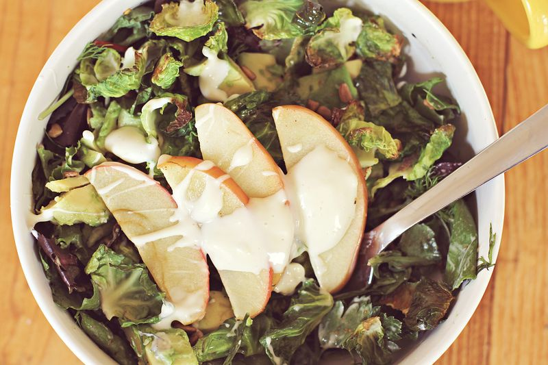 Roasted Apples + Brussels Sprouts