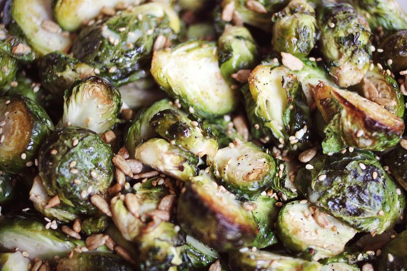 Mustard Brussels Sprouts (via A Beautiful Mess)