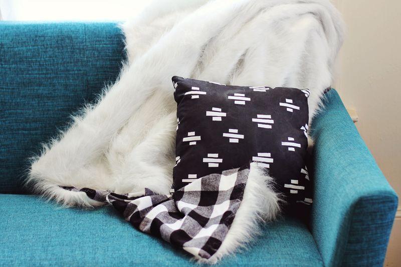 Faux Fur + Flannel Blanket DIY