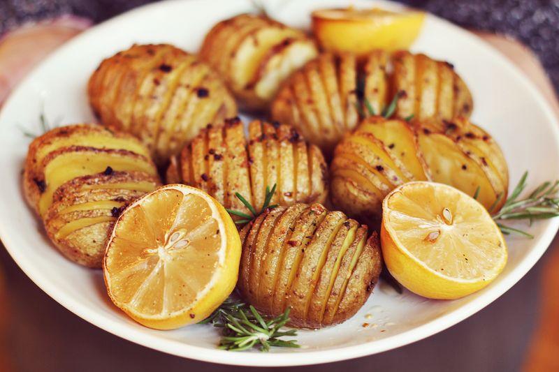 How to make accordion potatoes
