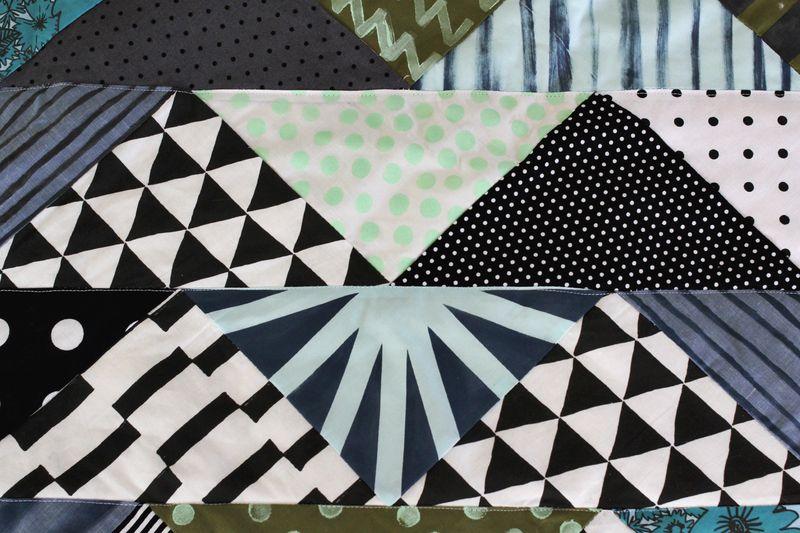 Hand Printed Quilt DIY