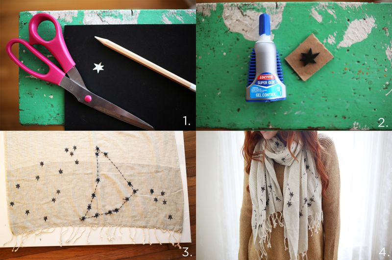 DIY Constellations Scarf