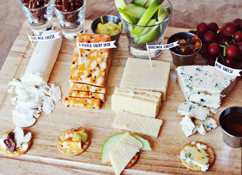 Serve food on a cutting board