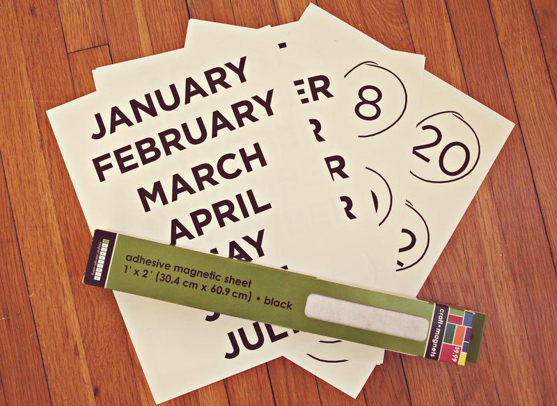 Easy tutorial for make a refrigerator calendar