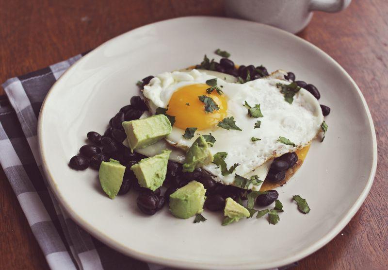 Valentine's day fried egg breakfast. too cute!