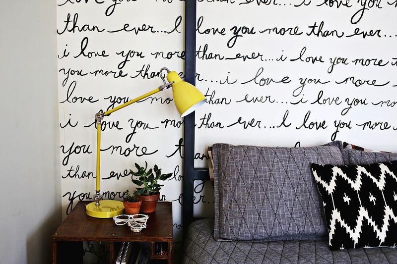 Elsie\'s Handwriting Statement Wall - A Beautiful Mess