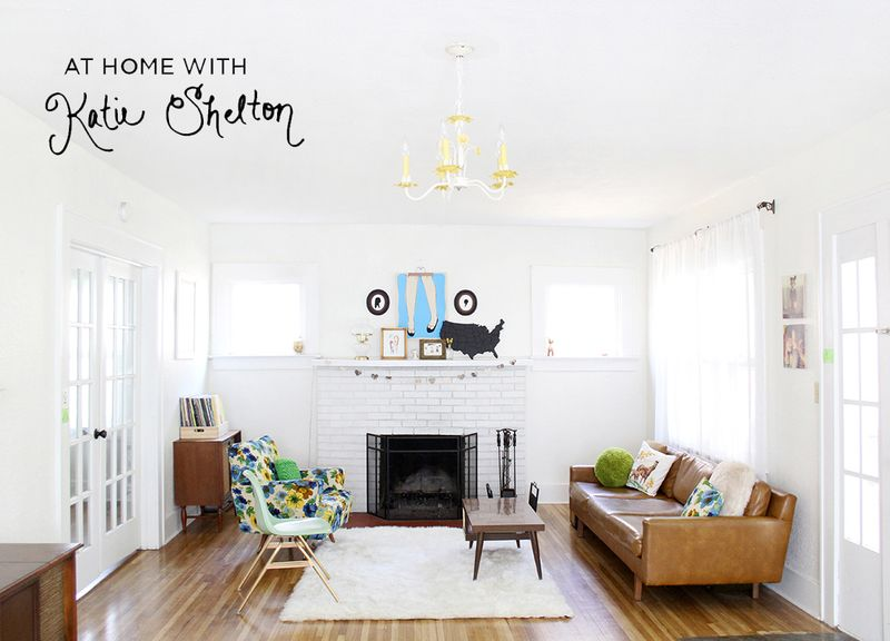 Katie Shelton's darling living room via A Beautiful Mess