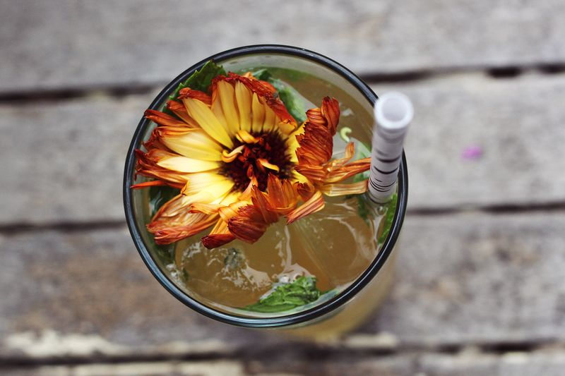 Whiskey Lemonade with Mint!