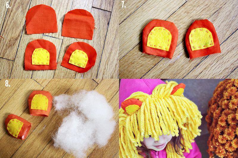 Lion Hoodie Steps 2