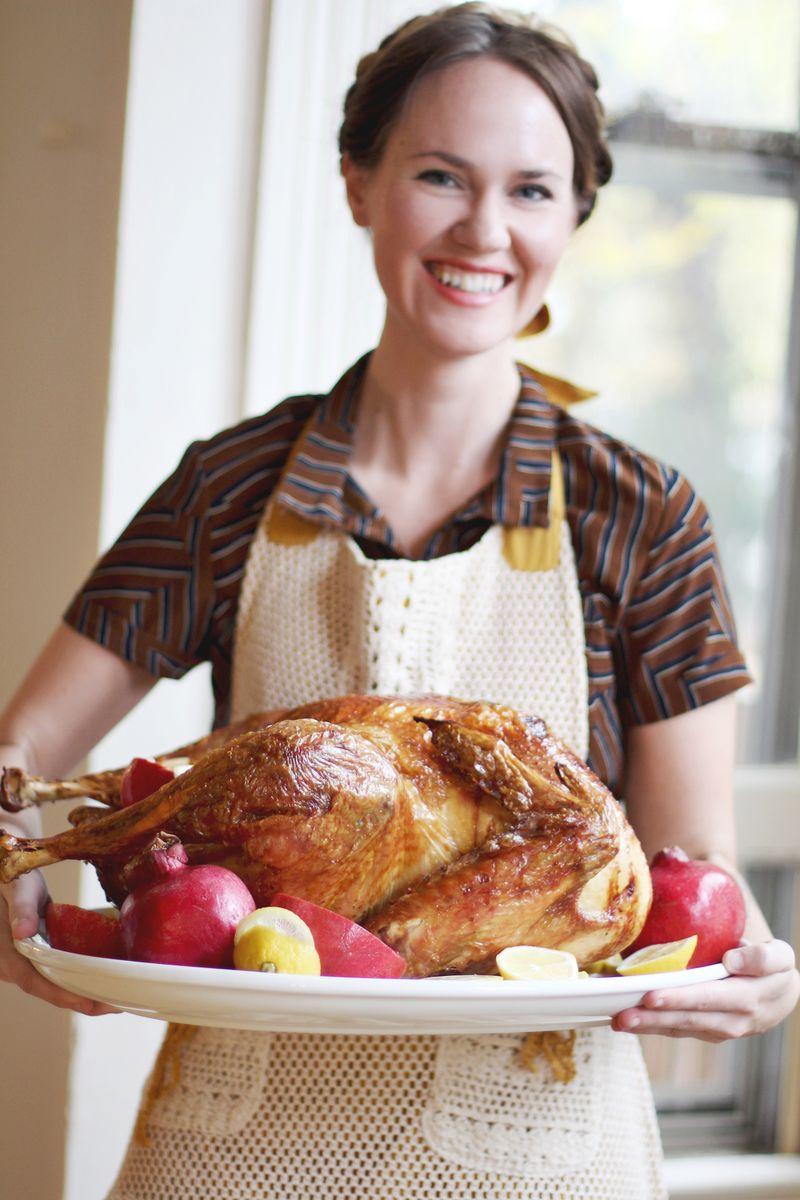 Emma's first thanksgiving turkey