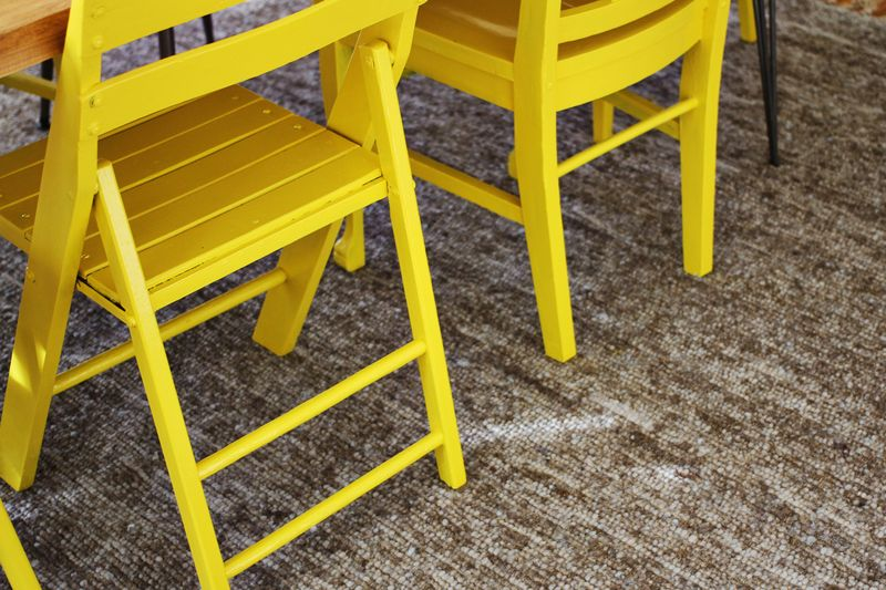 Bright Yellow Dining Room Chairs