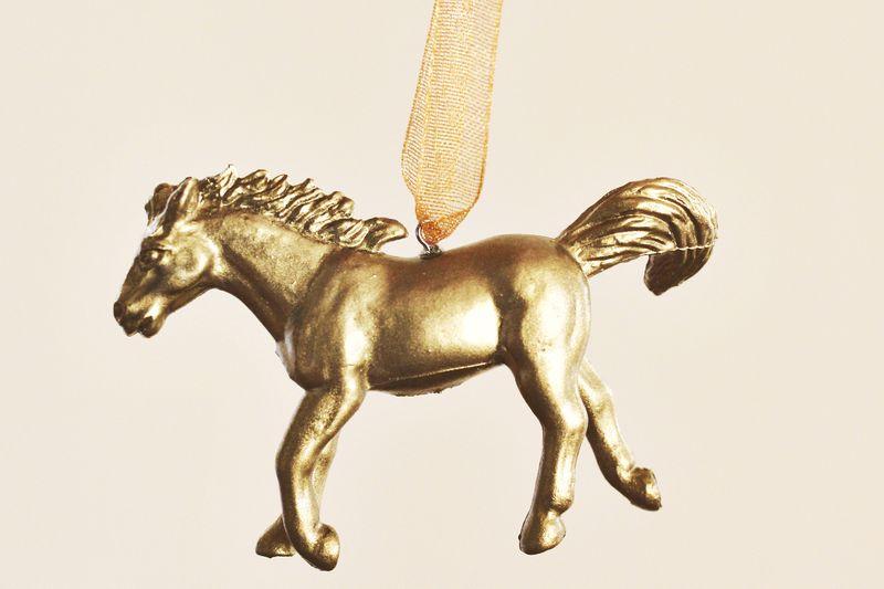 DIY Gold Horse Ornament