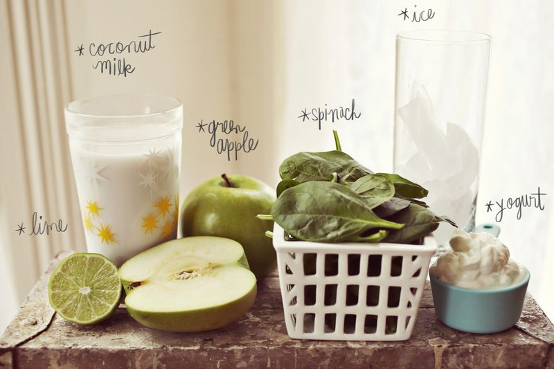 Green Apple + Spinach Smoothie