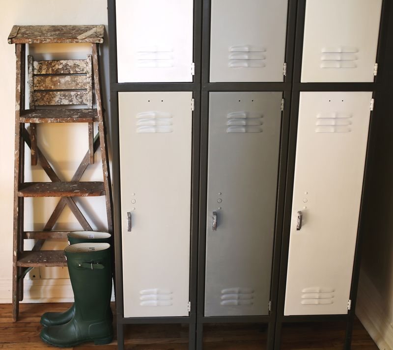 Old locker = extra storage!