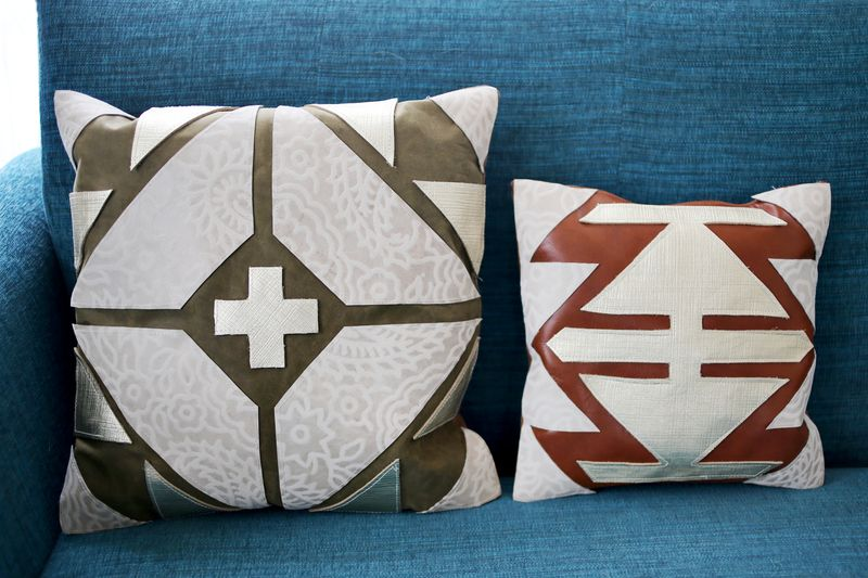 Leather Pillow Designs 2