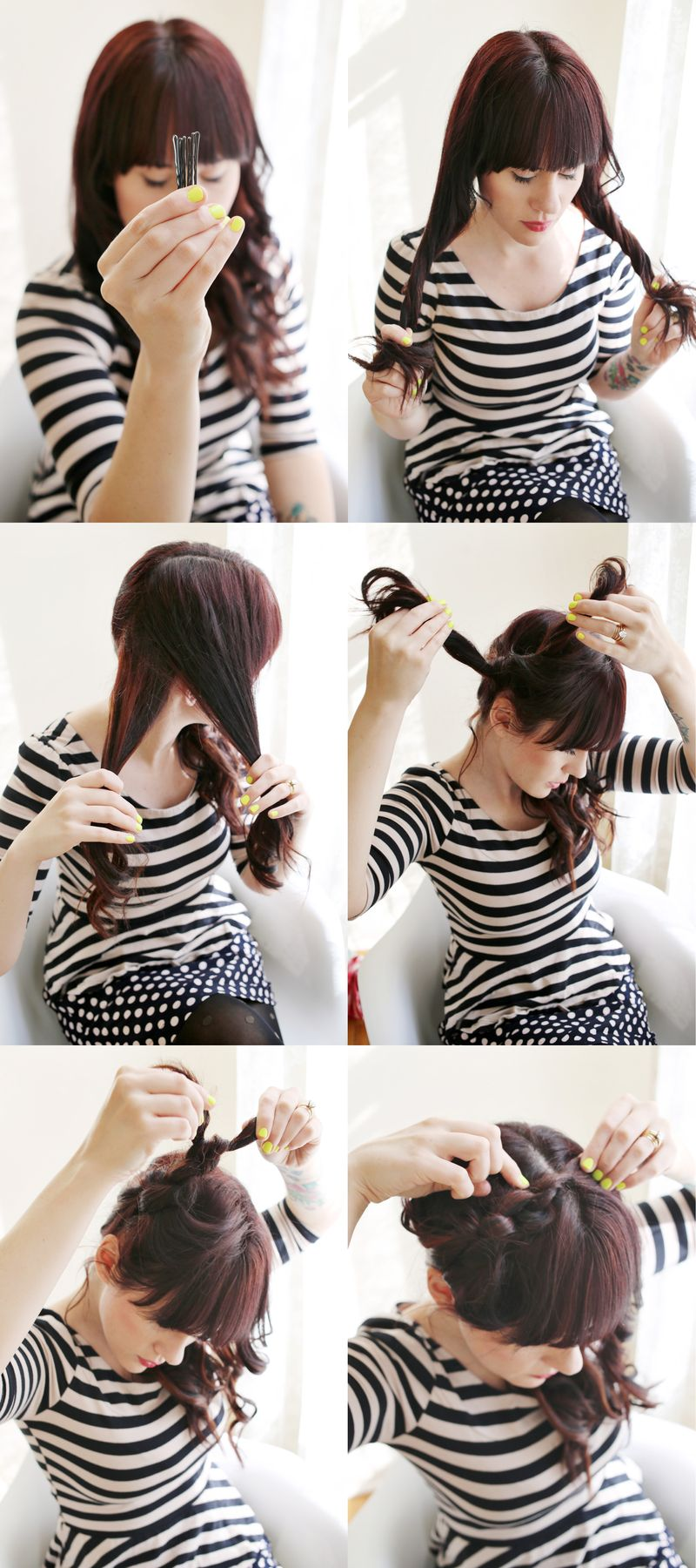 Knot Hairstyle Instructions