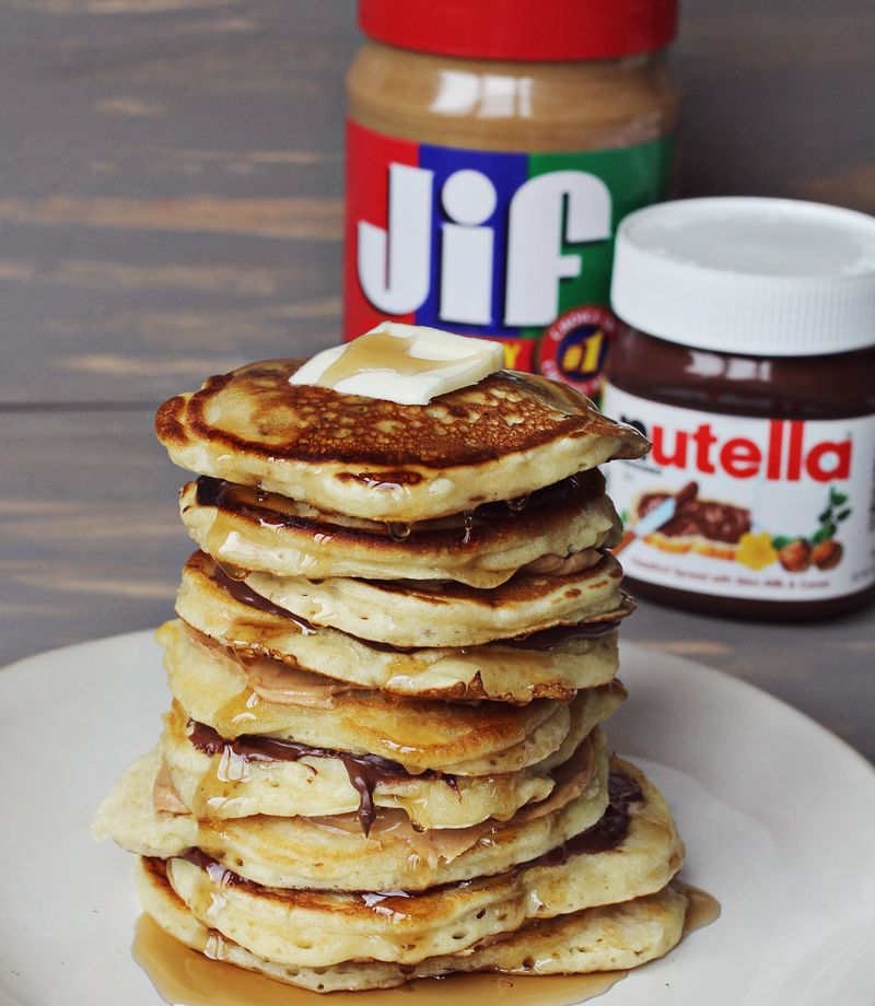 Perfect banana nut pancakes