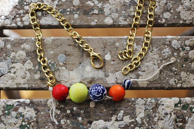 DIY Simple Statement Necklace
