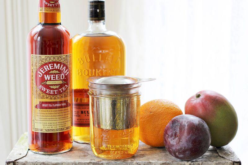 Mango + Plum Sweet Tea Cocktail Ingredients