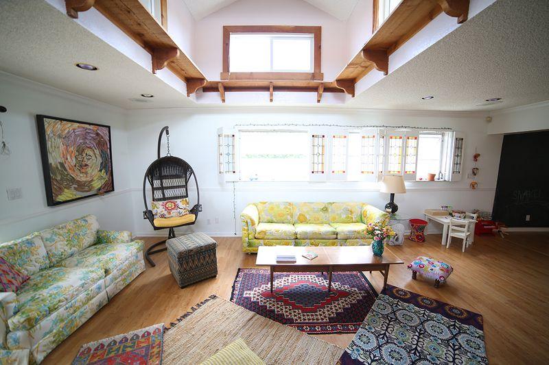 Beautiful living space via A Beautiful Mess