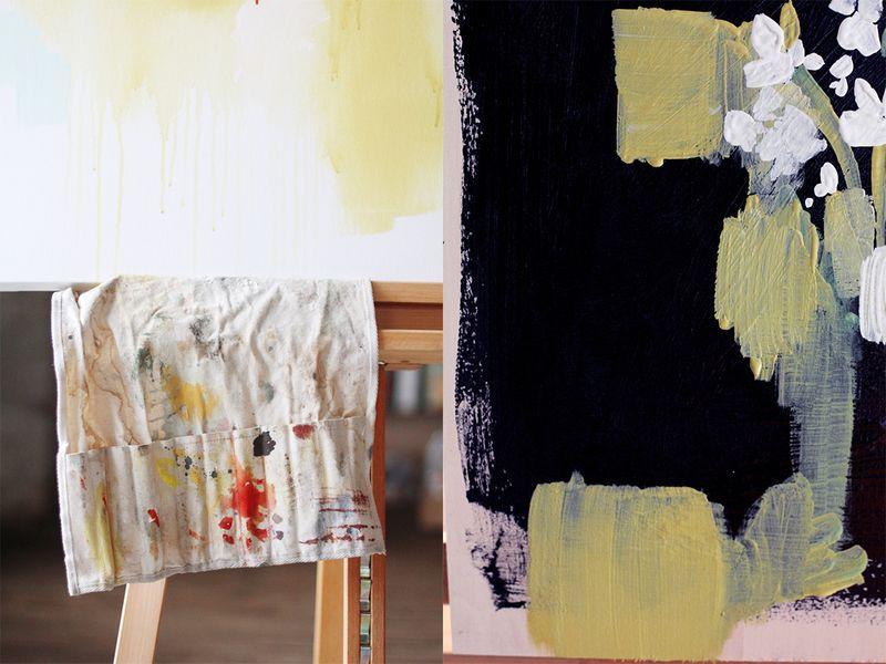 Katie Stratton's gorgeous studio via A Beautiful Mess