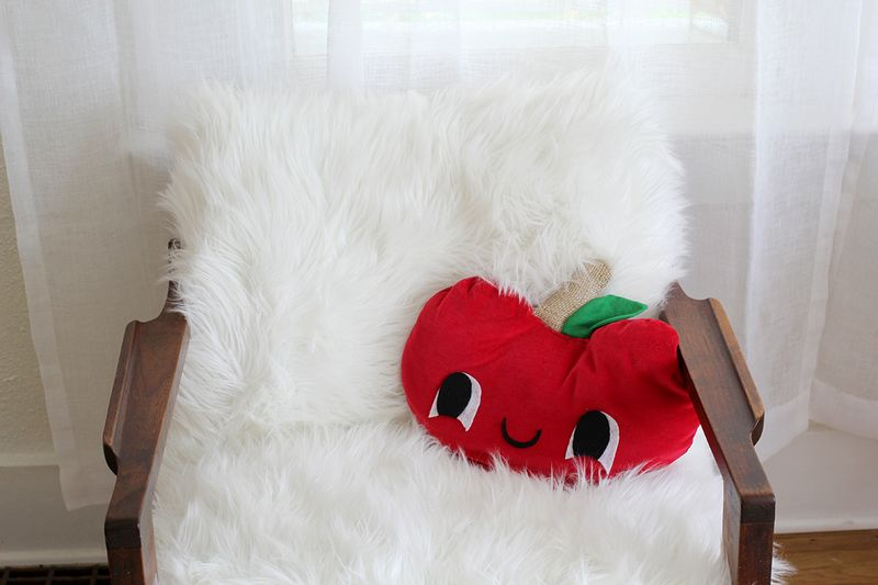 Adorable sheepskin chair