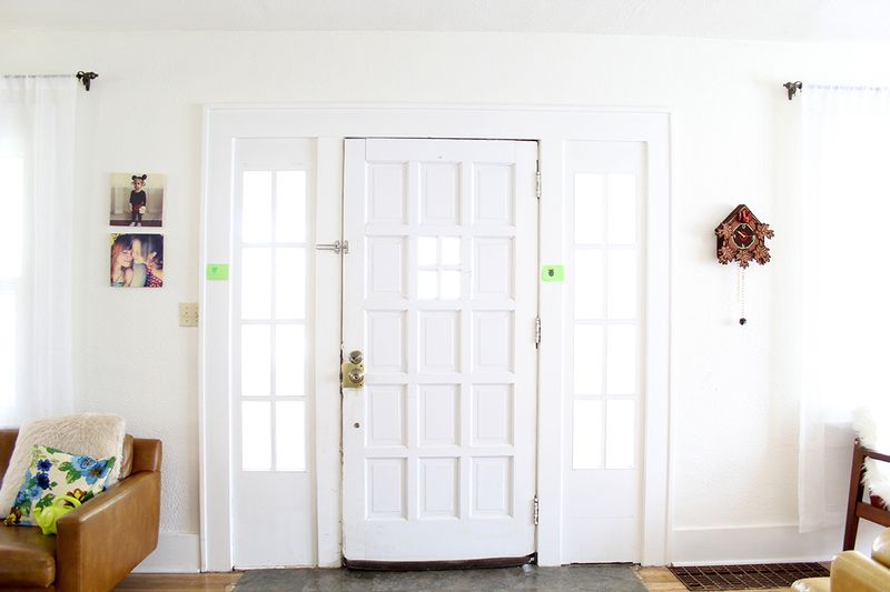 White walls and door