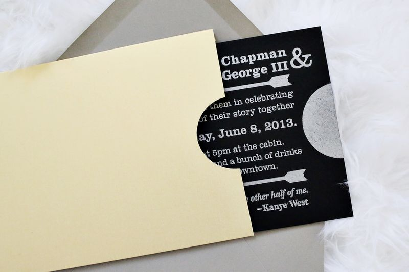 Emma + trey's wedding invites