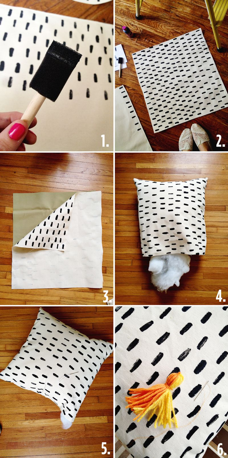 Super Cute (& Quick) DIY Porch Pillows