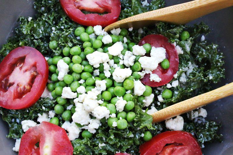 Kale, Pea + Blue Cheese Salad