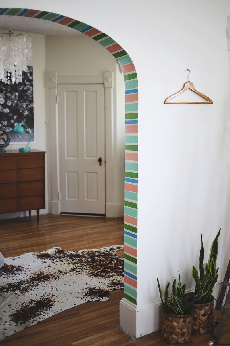 DIY Stripe Doorway... with washi tape!