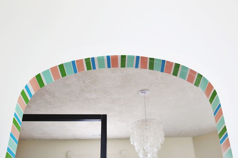Washi Tape Stripe Doorway DIY