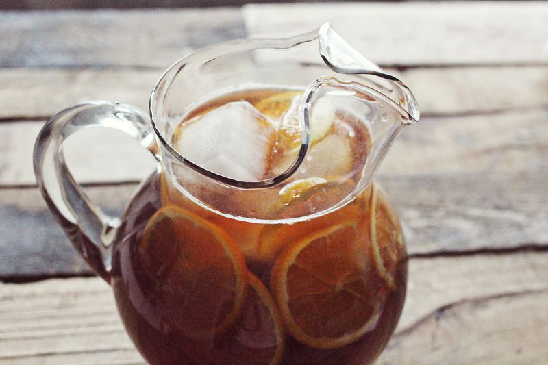 Orange sweet tea