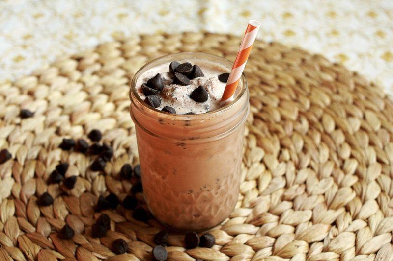 Mocha chip milkshake
