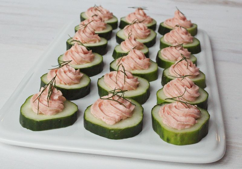 Best salmon mousse recipe www.abeautifulmess.com