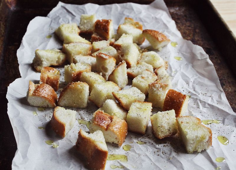 Anchovie croutons www.abeautifulmess.com